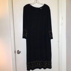 Premise 1X(16/18W) Stretch Sheath Dress w/studs